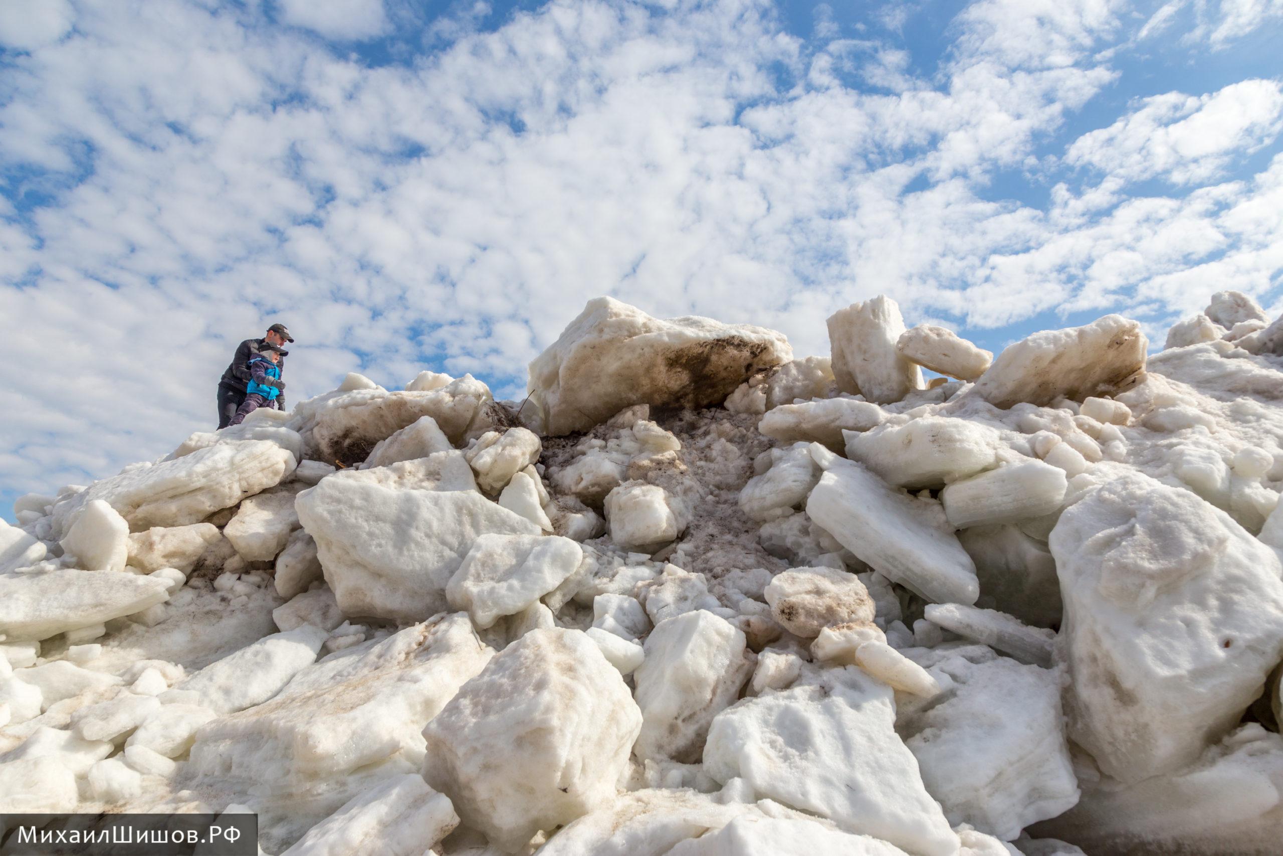 Белая ледяная гора Силикатного